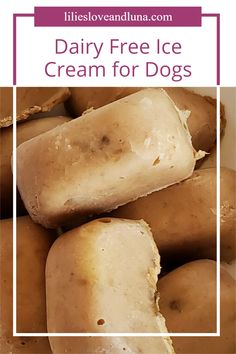 Non-dairy dog ice cream is an easy, 2 ingredient frozen treat to give your dogs instead of regular ice cream. Dog Ice Cream, Dairy Free Ice Cream, Vegan Gluten Free, Vegan Vegetarian, Frozen Dog Treats, Peanut Butter Banana, Free Dogs, Dog Treat Recipes, 2 Ingredients