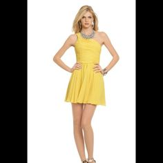 Halston Heritage Sunny Day Dress One shoulder dress fun and flirty Halston Heritage Dresses Midi