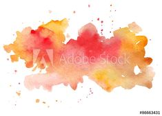 Vector watercolor abstract hand painted background.