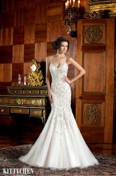 Kittychen Ariana K1403 Size 4 Wedding Dress for sale! – OnceWed.com  #usedweddingdress #savemoneyweddings #budgetweddingdress #bargainweddingdress #weddingdressforsale