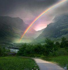 Gorgeous rainbow in Ireland. <3