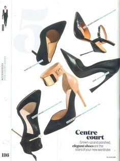 One of the sexiest shoes ever created is by Richard Braqo! Black stilletos featured in Elle Magazine UK