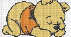 Winnie Pooh bebe Baby - Cross Stitch Punto de cruz