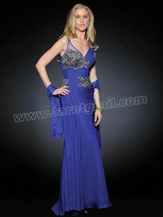 Shinny Silk V-neckline Embroidered Bodice Full Length A-line Evening Dresses