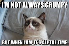 I'm not always grumpy, but when I am, it's all the time.