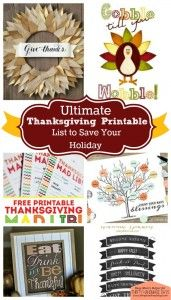 the Ultimate Thanksgiving Printables List 2019 Ultimate Thanksgiving Printable List to Save Your Holiday / Busy Moms Helper for ThirtyHandmadeDay The post the Ultimate Thanksgiving Printables List 2019 appeared first on Holiday ideas. Thanksgiving Games, Thanksgiving Traditions, Thanksgiving Decorations, Happy Thanksgiving, Thanksgiving Recipes, Seasonal Decor, Fall Crafts, Holiday Crafts, Holiday Fun