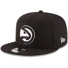 innovative design 10db0 5e8d7 ... cheapest mens atlanta hawks new era black black white logo 9fifty  adjustable snapback hat your f1356