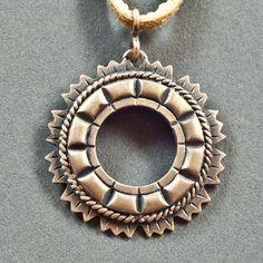 Latvian folk brooch pendant in bronze by Balticsmith