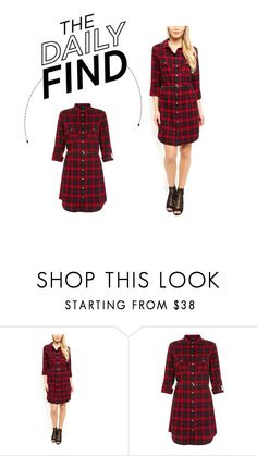 """Daily Find: New Look Shirt Dress"" by polyvore-editorial ❤ liked on Polyvore featuring DailyFind"