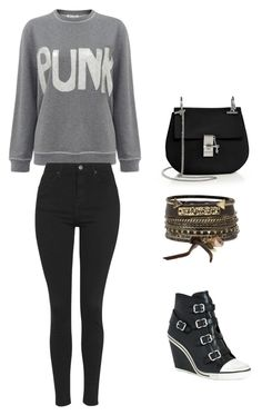 """""""night out in new york"""" by heart0296 ❤ liked on Polyvore featuring beauty, Chloé, BKE, Ash, Bella Freud and Topshop"""