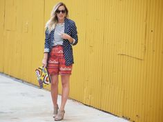 Tsubo Shoes Karen Walker Print Mixing J.Crew Outfit