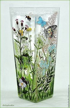 """Купить Ваза """"Летняя"""" - лето, луговые цветы, луговые травы, растения, зелень, травка, травы"""