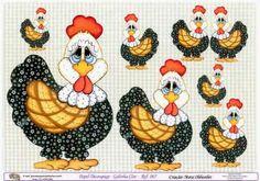 imagens de galinhas para decoupage - Pesquisa Google