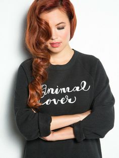 *PREORDER* Our Limited Run Animal Lover Embroidered Boyfriend Sweatshirt