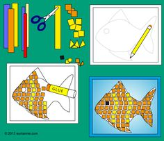How to make paper mosaics. Good as extra activity when teaching about Byzantine Empire.