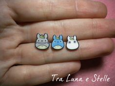 Ohrringe von Totoro Totoro Lappen grau und blau, mein Nachbar Totoro, Studio Ghibli, kawaii