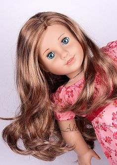Gorgeous-American-Girl-Doll-Custom-Marie-Grace-OOAK-with-Leas-golden-brown-wig