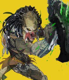 Wolf Predator, Predator Movie, Predator Alien, Alien Character, Character Art, Character Design, Digital Art Fantasy, Fantasy Art, Humanoid Creatures