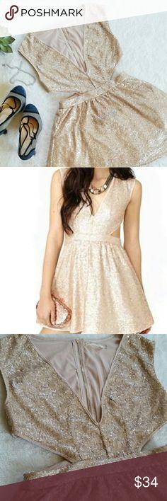 Spotted while shopping on Poshmark: 💙HP!💙 Mustard Seed Blush Sequin Cutout Dress! #poshmark #fashion #shopping #style #Mustard Seed #Dresses & Skirts