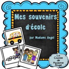 Mes souvenirs d�cole: End of Year Memory Book in French from LaClassedeMadameAngel on TeachersNotebook.com -  (18 pages)  - Booklet for students to create an end of year memory book in French.