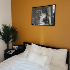 TANLINES, deep yellow paint color by Backdrop. Yellow Paint Colors, Yellow Painting, Best Bedroom Paint Colors, Canvas Drop Cloths, Guest Bed, Interior Walls, House Design, Deep, Bedroom Inspiration