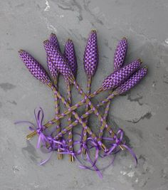 Lavender Wands!  Pretty little hand-out keepsake for Litha!