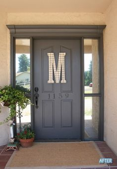 Front door makeover - Click image to find more Home Decor Pinterest pins