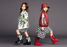 Dolce & Gabbana Children Summer Collection 2015.  Rain Boots!