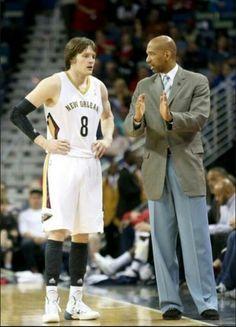 Luke Babbitt & Coach Monty Williams