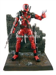 "(27.92$)  Know more - http://ai30n.worlditems.win/all/product.php?id=32613087036 - ""7"""" Hot Anime Deadpool Action figure scene model kit Home decoration Marvel X-man Super Hero Evil Spiderman Collectible toys"""