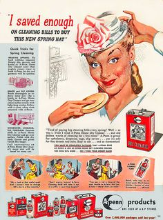 1947 ... hats and cleaning products! by x-ray delta one, via Flickr