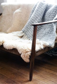Sheepskin Sofa from Ashley Helvey