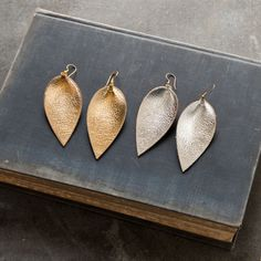 Metallic Leather Earrings - Magnolia Market | Chip & Joanna Gaines