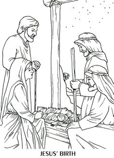 Manger Scene Coloring Page New the Birth Of Jesus Coloring Page Jesus Coloring Pages, Colouring Pages, Adult Coloring Pages, Coloring Books, Coloring Sheets, Christmas Bible, A Christmas Story, Christmas Colors, Christmas Crafts