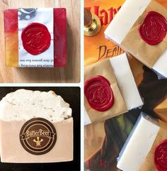 These beautiful, hand-poured soaps will make bath time decidedly more magical. Each set includes one sorting hat soap, one butterbeer soap, and one house soap of your choosing. Sorting Hat, Bath Time, Soap Making, Soaps, How To Make, Gifts, House, Beautiful, Bath Soap