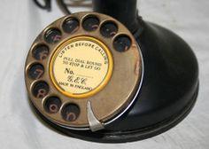 Antique 1920s Rotary Dial Candlestick Telephone Copper Bakelite England   eBay