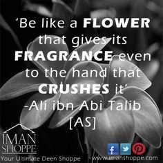 Be like a flower. Islamic World, Islamic Art, Islamic Messages, Islamic Quotes, Ali Bin Abi Thalib, Cool Phrases, Imam Ali Quotes, Hazrat Ali, Islamic Teachings