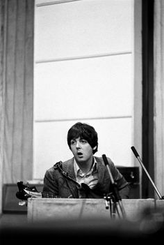 """Paul McCartney during a recording session for the album """"Revolver"""""""