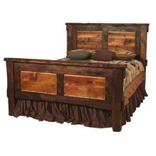 This is our Rustic Walnut & Reclaimed Wood Bed.  Visit www.LogCabinRustics.com to see this bed and other fine rustic furniture.