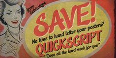Quickscript™ font download