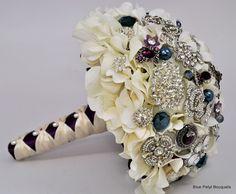 Sapphire Hydrangea in the Bride's colors:) #wedding #bouquet