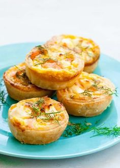 Easy Mini Quiche Recipe The Typical Mom. Best Asparagus Quiche Recipe How To Make Mini Bacon . Quiches, Mini Breakfast Quiche, Salmon Quiche, Mini Quiche Recipes, Brunch Appetizers, Phyllo Appetizers, Appetizer Recipes, Make Ahead Brunch, Gluten Free Puff Pastry