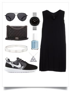"""""""Black is Better."""" by sydddneysmith on Polyvore featuring Skagen, Marc by Marc Jacobs, NIKE, Essie, The Row, Cartier, Chanel and Allurez"""