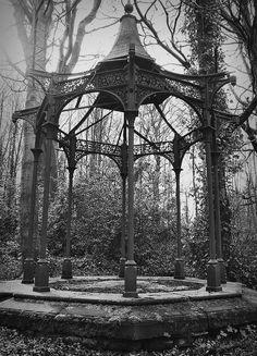 Victorian neogothic gazebo.