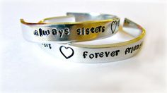 Handstamped Cuff Bracelets - TODDLER Size by justByou