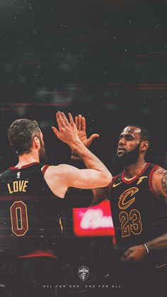 Lebron James and Kevin Love Wallpaper LeBron James' Final Message To Kobe Bryant Will Make You Cry Sports Basketball, Basketball Players, Basketball Stuff, Kevin Love Cavs, Lebron James Finals, Lebron James Wallpapers, King Lebron, Nba Championships, Love And Basketball