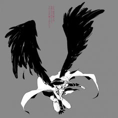 ((My Wingtalia head cannon, is that Prussia has black wings like the eagle on his flag. They're strong and large, like his empire was once.))