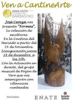 Cartel exposición José Cereza y actuación grupo musical de Pozán de Vero www.ghbarbastro.com