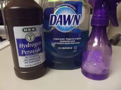 FOR Carpet, Microfiber Couch, Floor Grout, Clothes, Upholstery.  1 part Dawn Dishwashing Liquid (original blue) and   2 parts Hydrogen Peroxide Mix together and pour directly on the stain.http://moderndaymoms.com/homemade-miracle-cleaner/