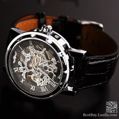 Men wristwatch Mechanical watch Steampunk gear watch, Silver